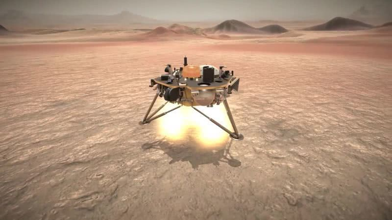 NASA洞察号火星探测器成功着陆 首次开启火星内部探测