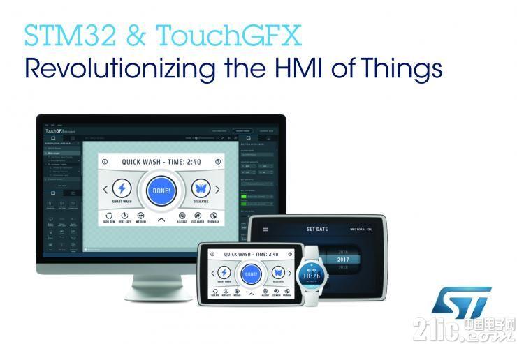 意法半导体为免费的STM32微控制器开发生态系统,新增高品质的用户界面设计软件