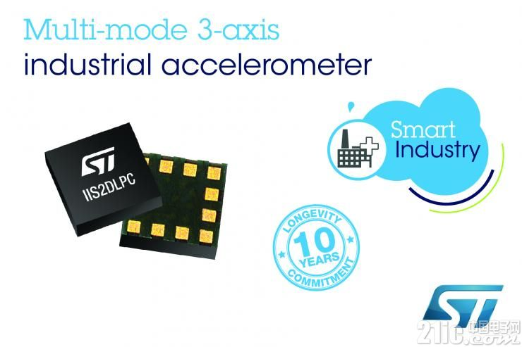 高精度+超低功耗!意法半导体推出变模MEMS工业级加速度计