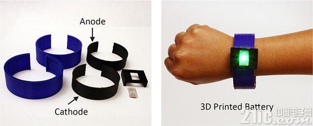 锂电池也能3D打印了,可穿戴设备设计更自由!