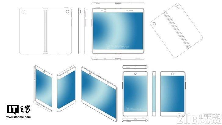OPPO也要入局可折叠手机?可折叠手机外观专利曝光!
