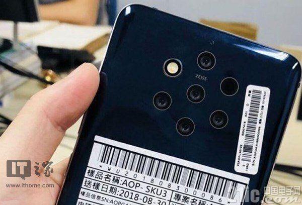 代号奥林匹克,诺基亚9 PureView五摄手机再曝光!