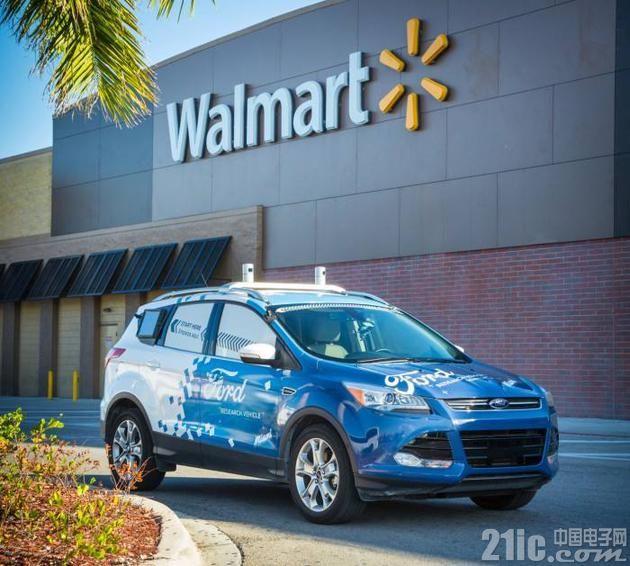 用自动驾驶汽车送货上门!福特与沃尔玛合作搞事情!