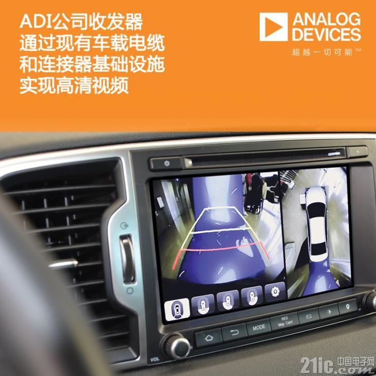 ADI这款收发器太强大了,通过现有车载设施就可实现高清视频!