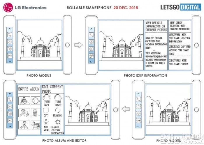 手机新型态!LG申请新专利:搭载柔性屏能像卷轴卷起来!