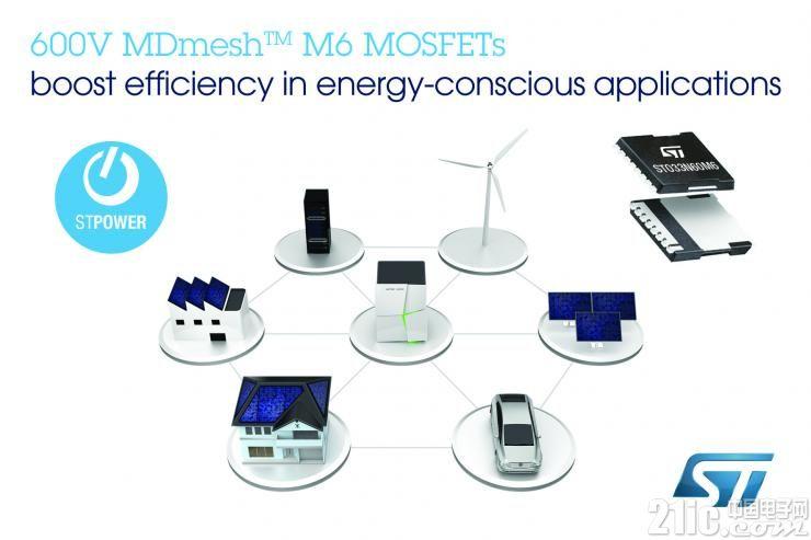 意法半导体高效超结MOSFET瞄准节能型功率转换拓扑