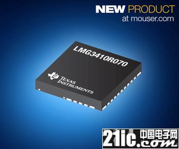 贸泽开售TI LMG3410R070 GaN功率级产品  支持新型电动机的高密度需求