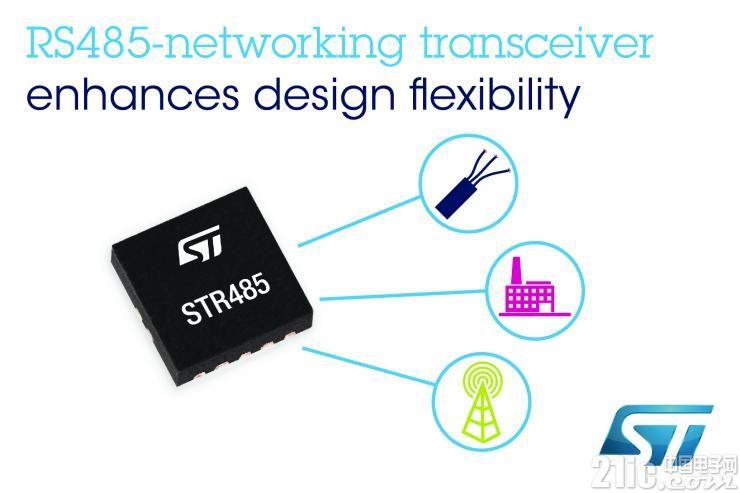 意法半导体推出高度灵活的RS485网络收发器  简化产品设计!