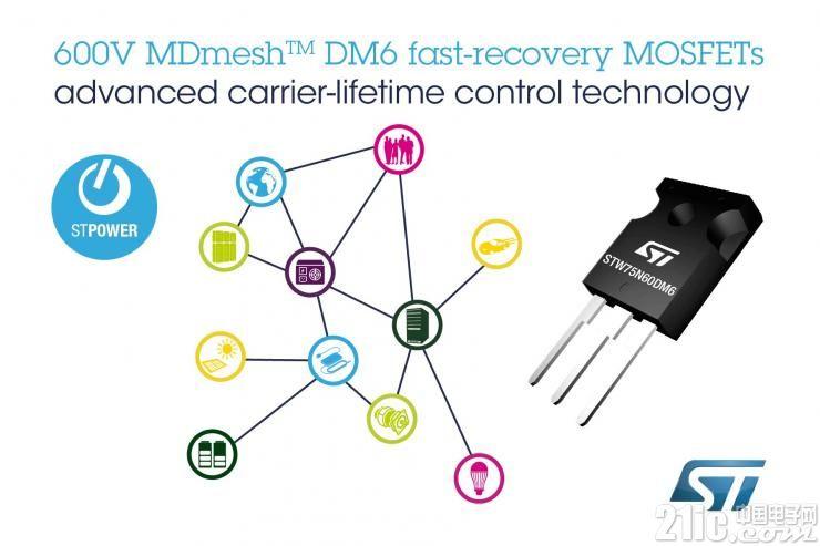 意法半导体推出快速恢复的超结MOSFET,为电桥和ZVS转换器带来卓越性能