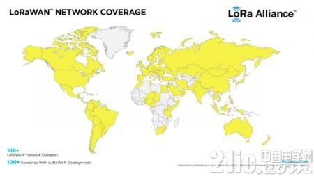 超百家网络运营商部署LoRaWAN:覆盖全球100多个国家