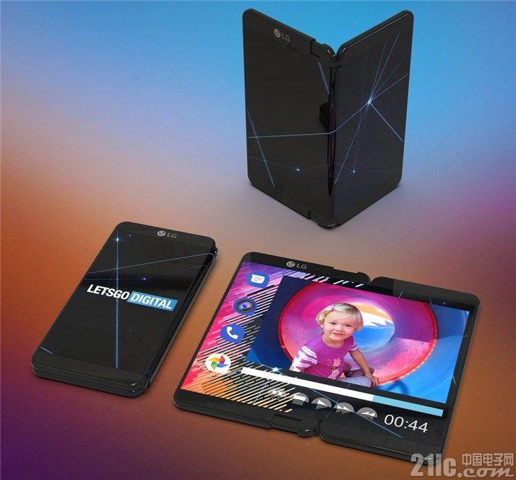 LG可折叠屏幕手机专利曝光,预计三季度发布!