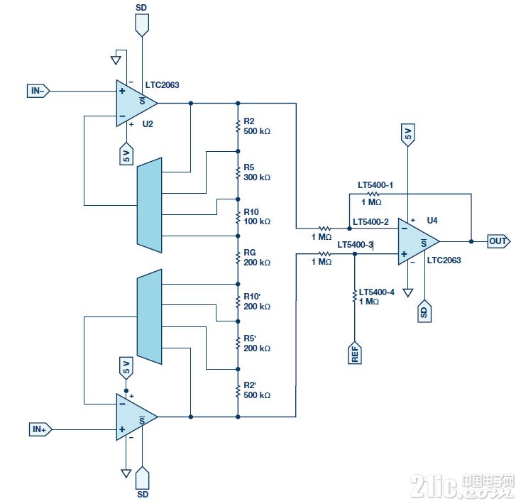 图9.低功耗PGIA设计