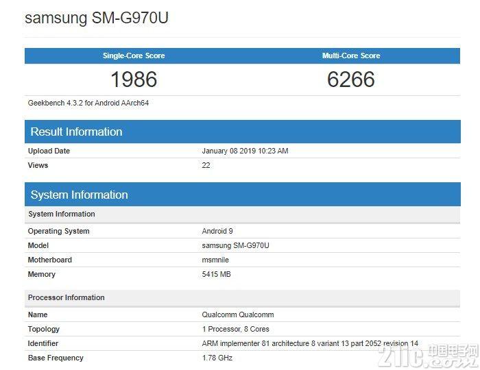 三星S10 Lite现身Geekbench:骁龙855+6GB运存,跑分竟不如845!