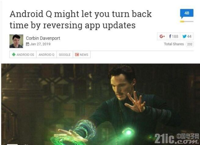 """嫌新版太难用?Android Q支持应用更新""""回滚"""""""