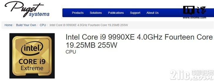i9-9990XE完整参数曝光:14核5.0GHz, TDP达到恐怖的255W