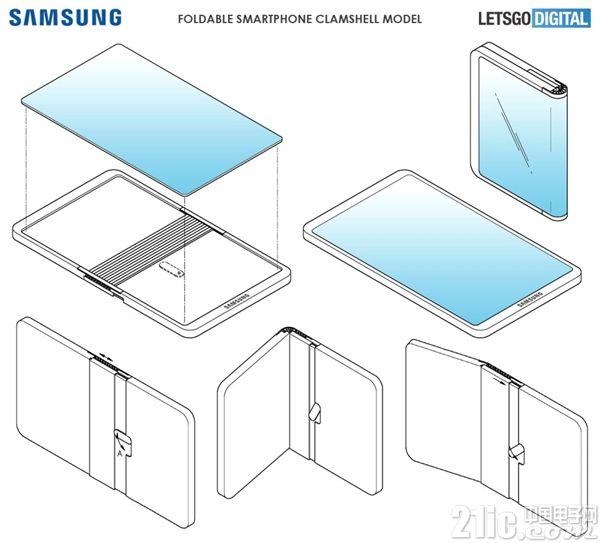 三星新专利曝光:8寸双折叠手机、13寸外对折手机都来了