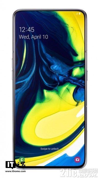 三星Galaxy A80手机发布:升降式可旋转三摄,前后摄像头一体