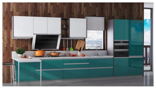 现代风橱柜,我乐橱柜和金牌厨柜哪个好