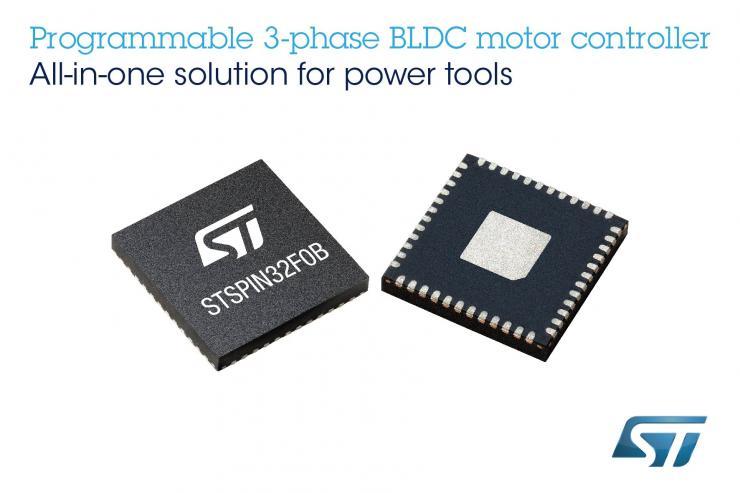 意法半���wSTSPIN32��Shunt BLDC��C控制器,可大量�省空�g、�r�g和物料成本