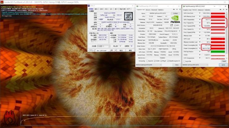 华硕ROG STRIX GeForce RTX2070 O8G GAMING测评之烤机温度、功耗双测评