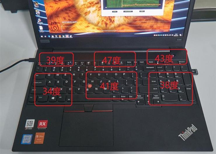 联想Thinkpad E580笔记本测评之烤机温度、功耗双测评