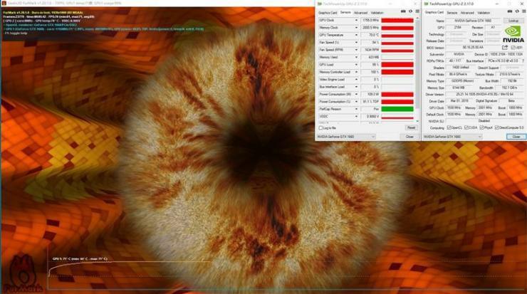 耕升GTX 1660追风版测评之功耗、温度测评