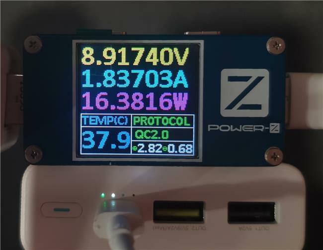 荣耀移动电源2测评之输入性能测评