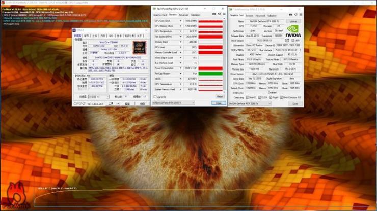 索泰RTX 2080Ti X-GAMING OC显卡测评之烤机温度、功耗双测评
