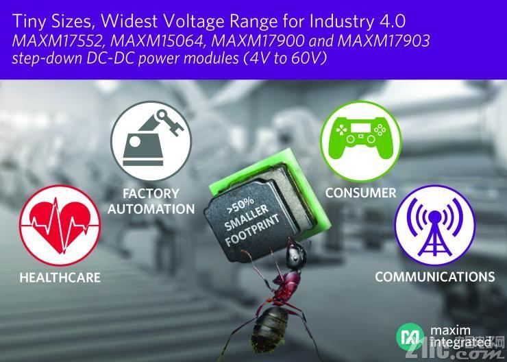 Maxim Integrated  微系统级IC模块:喜马拉雅uSLIC电源模块