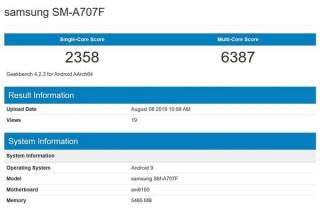 三星Galaxy A70s配有6400万像素传感器