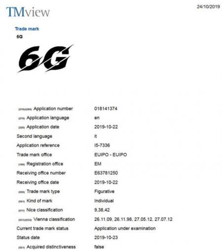 """下手太快!vivo率先在欧洲注册""""6G""""网络徽标"""