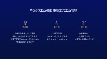 华为推出全球首款商用的5G工业模组-3
