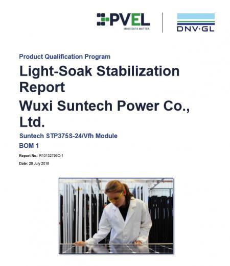 尚德高效单晶PERC半片组件获美国DNV-GL(PVEL)实验室产品认证