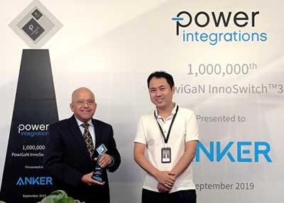 电源集成提供百万分之一的基于GaN的InnoSwitch3 IC
