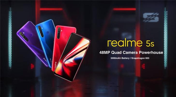 万众期待!Realme 5s搭载5000mAh电池即将亮相