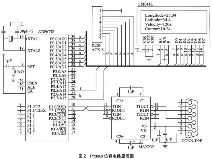 电路仿真软件详谈(十八),基于proteus电路仿真软件的定位系统仿真