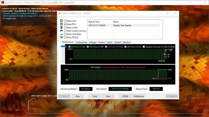 AMD Radeon RX 5500XT�@卡平�_峰值功耗�y�u