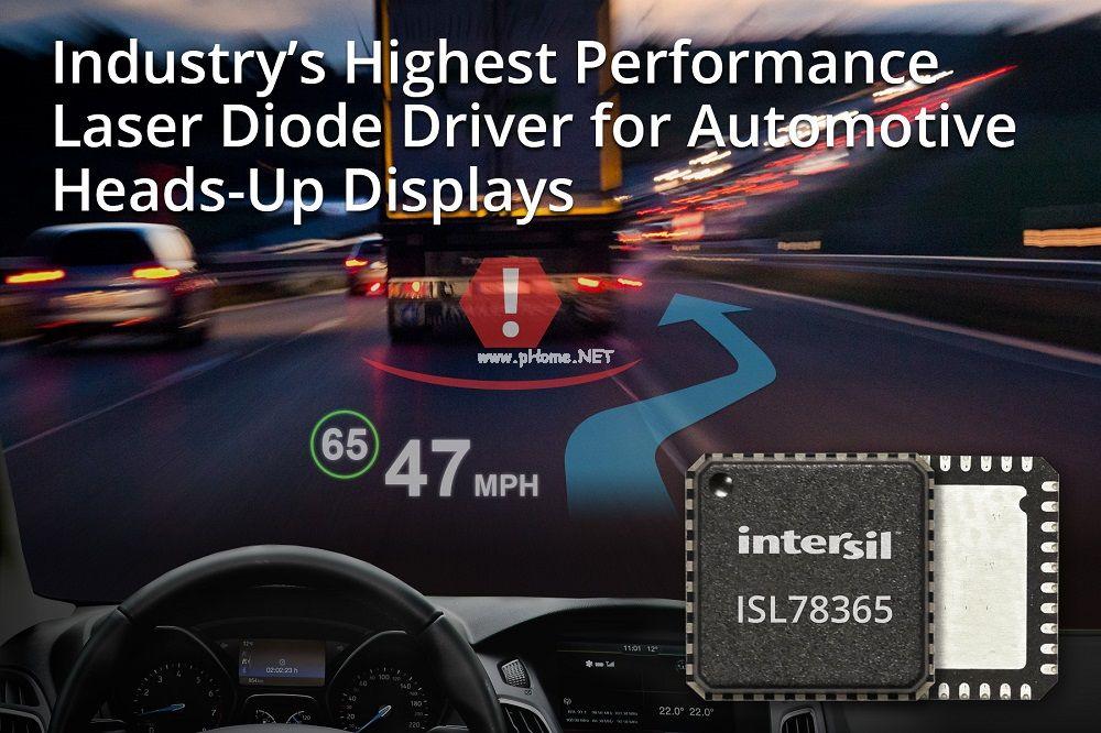 Intersil推用于汽车平视显示器的高性能激光二极管驱动器