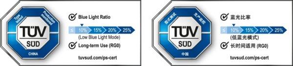 TUV南德推出蓝光比率等级认证标志