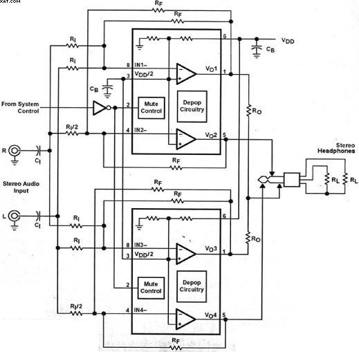 用桥电路驱动立体声耳机图片