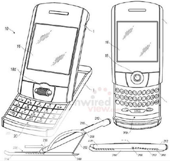 RIM的多媒体触摸屏专利-黑莓手机(Blackberry)