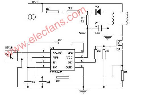 ap3842cp应用电路图-UC3842开关电源电路的保护障碍 1、在批量生产时,由于元器件的差