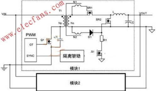 同步整流技术dc-dc模块电源