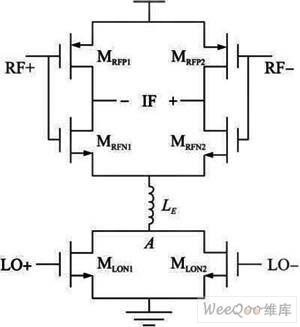 偶次谐波混频器拓扑结构