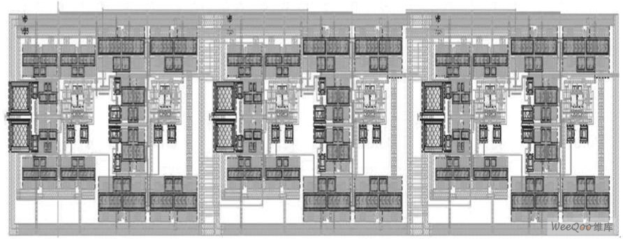 六阶Chebyshev低通滤波器版图