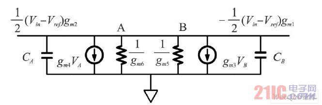 预运放交流小信号等效电路图