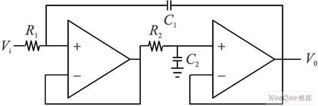 二阶Chebyshev低通滤波节