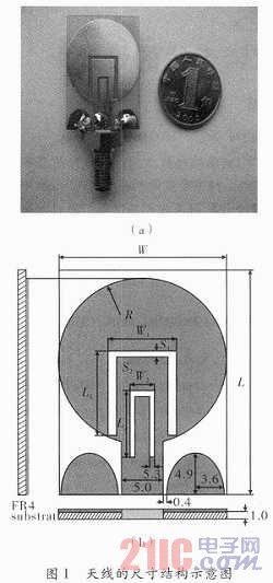 一种cpw-fed的双陷波超宽带天线的设计图片