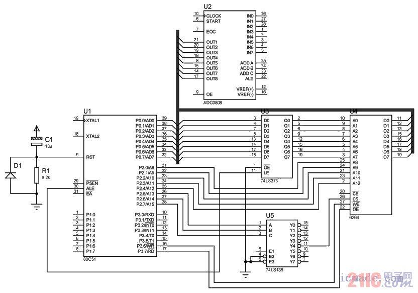 控制器主控单元电路图