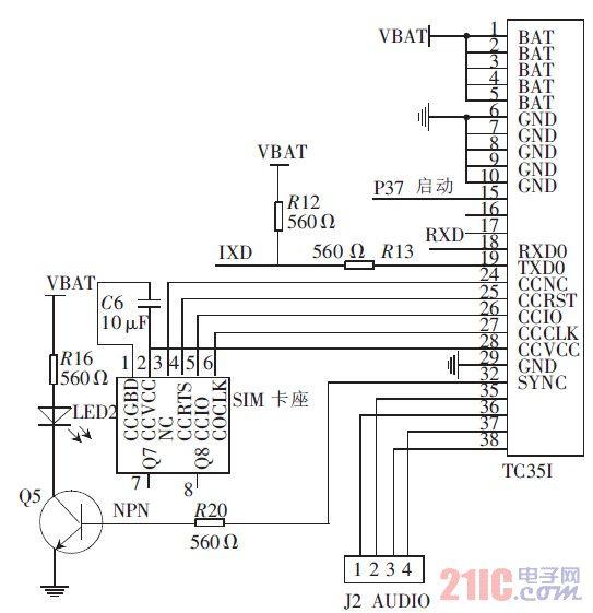 图4 TC35I 模块电路连接图